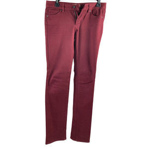 Uniqlo Womens Maroon Slim-Fit Jeans Size 26